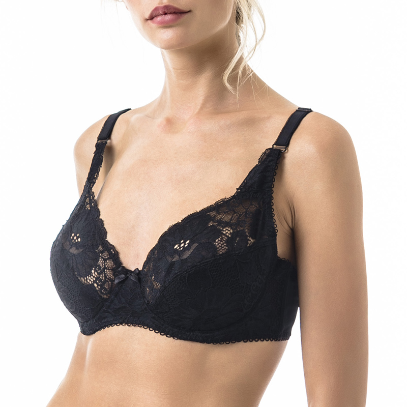 3c546f18b3 Woman s Bra Lace Black Demi Soft Cup Cotton Lining Large Size Big Breast  Support 80 85 90 C D E ARDI Free Delivery N2004 10-in Bras from Underwear  ...