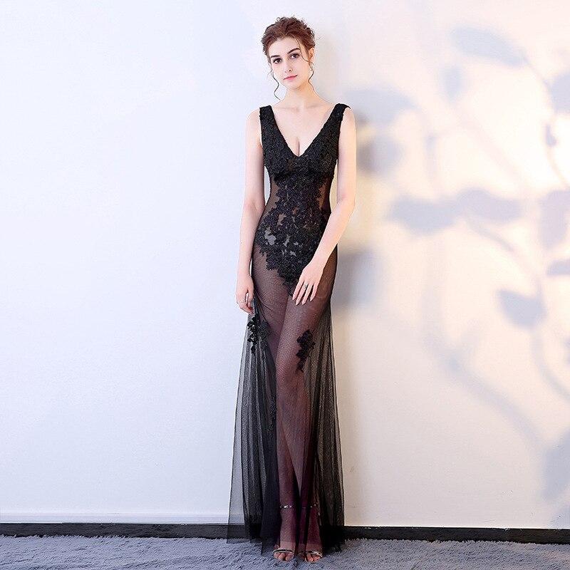 32be0f054fa argent Longue lavande blanc Sexy bleu Plus Femmes Robe Élégant Noir rose  Club Partie champagne Piste Celebrity Maxi Wear ...
