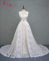 Jark Tozr Vestido De Noiva Sereia Światła Champagne Satin Aplikacje Koronki Odpinany Pociąg Mermaid Wedding Dress Chiny Sklep Internetowy