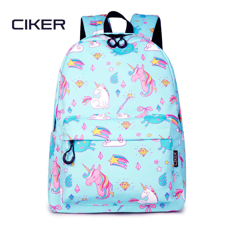 CIKER Waterproof Women Backpack Unicorn Printing Rucksack Daily Travel  Laptop Bagpack Mochila College School Bags Cute 6a2e674686246