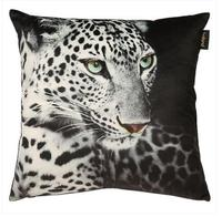 leapord printed white black velvet cushion cover sofa throw pillowcase square lumbar pillow cover home decor