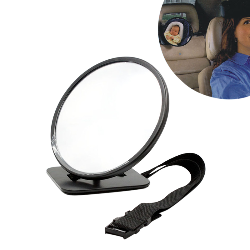Do Baby Car Rear View Mirror Facing Back Seat 360 Degree Adjustable Mirrors with Double Straps for Infant Toddler Kids 2