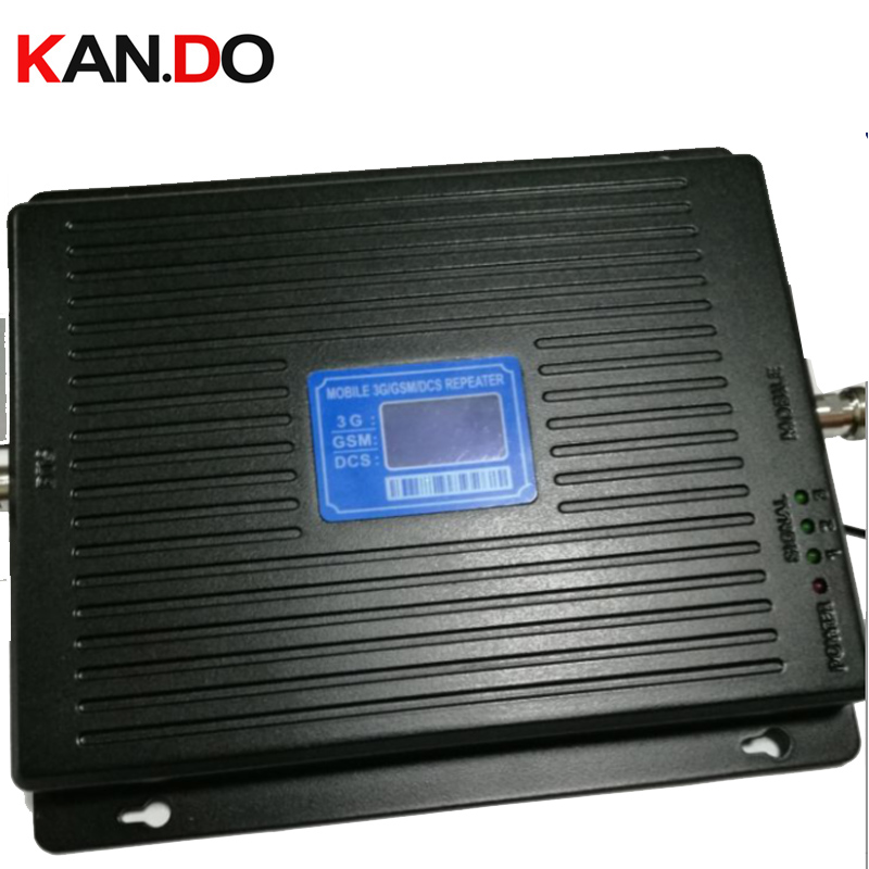 New 23 Dbm 65dbi Triband GSM 900 1800MHZ 2100MHZ Booster Repeater 4g DCS Repeater 3G Booster Gsm Repeater GSM BOOSTER 4G Booster