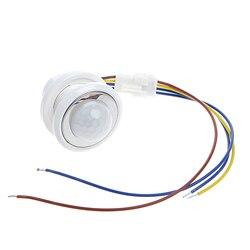 2018 40mm LED détecteur PIR détecteur de mouvement infrarouge interrupteur avec temporisation réglable lumière sombre