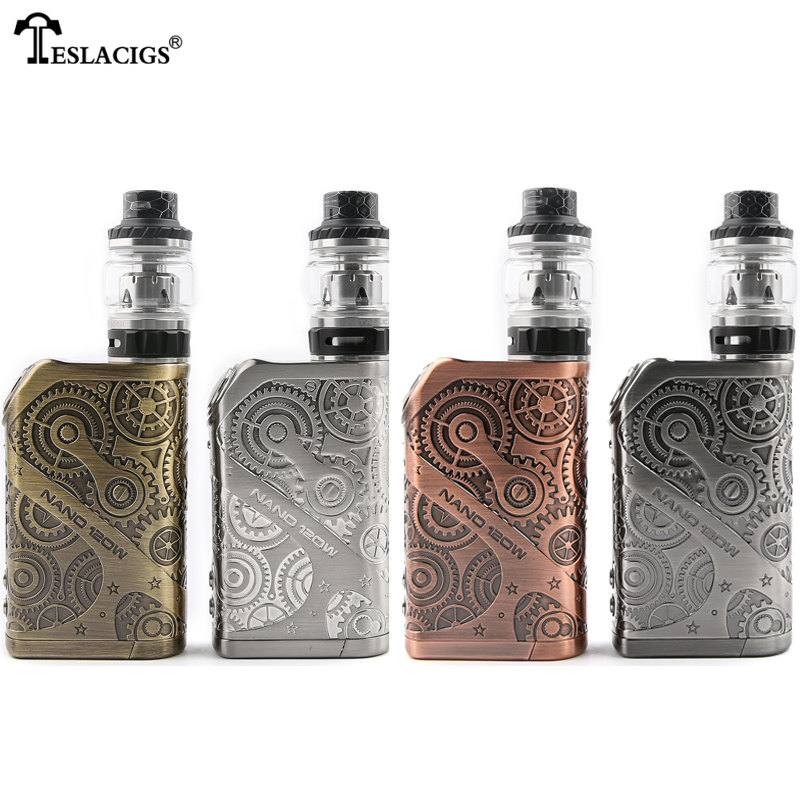 Original E Cigarette Tesla Nano 120W Starter kit Mechanical Box Mod Vape Tallica Tank Vaporizer VS