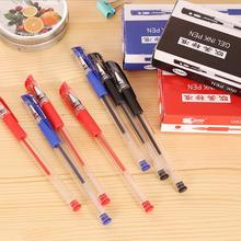 12 pcs Europe and the United States standard pencil creative office learning supplies writing smooth water pen 0.5mm black blue