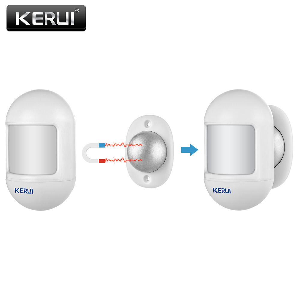 KERUI P831 Wireless Mini Movable Angle Home Security Burglar PIR Infrared Motion Detector Compatible With KERUI Alarm System(China)