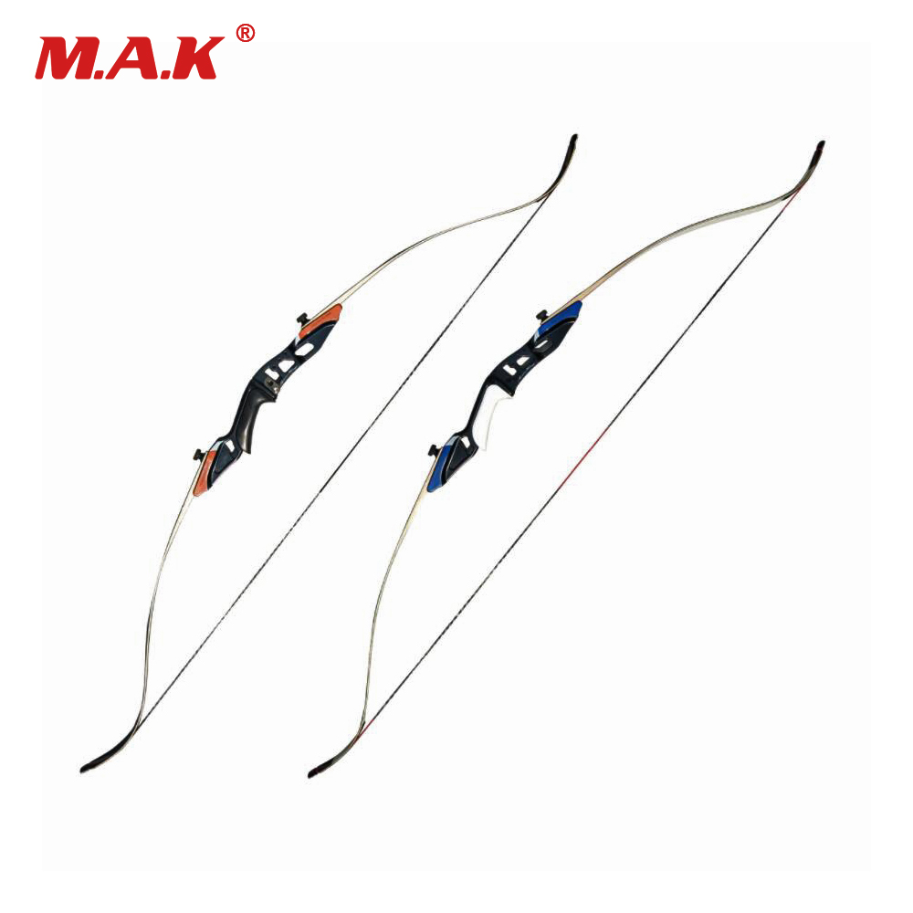 2 Color 58 Inches American Recurve Bow 25-50 LBS Strength Alloy Riser for Outdoor Archery Hunting Target Shooting 2 color 58 inches american hunting recurve bow 25 50 lbs for outdoor archery hunting target shooting