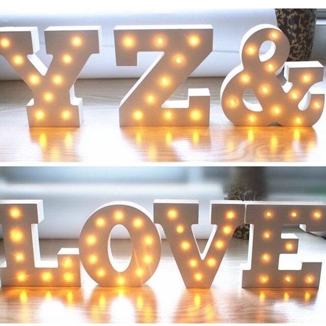 15 cm a z houten 26 letters led nachtlampje marquee teken festival