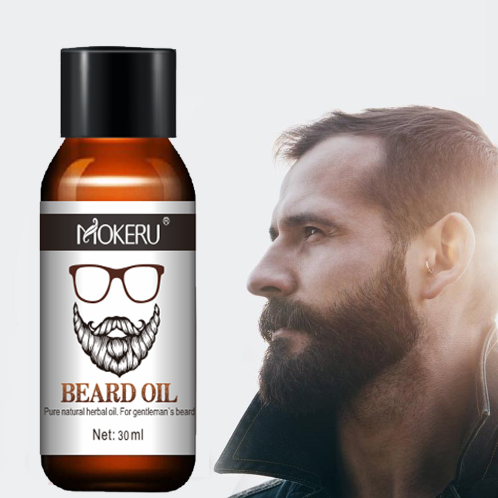 Mokeru 100% Natural Organic Men Beard Growth Oil Products Hair Loss Treatment Conditioner For Groomed Fast Beard Growth 30ml 5