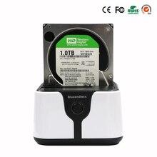 EU Plug hard disk sata hdd 3.5 sata usb 3.0 external hdd case 6Gbps hdd plastic 2.5 to 3.5 7-12mm thickness case