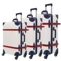 Чемодан Комплект чемодан багажная сумка на колесиках с колёса TSA замок Студент Большой Чемодан 28 дюймов из искусственной кожи Большой ёмкос