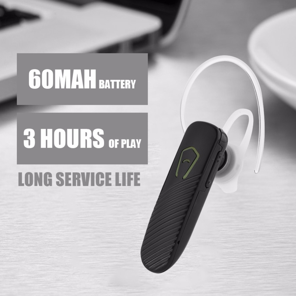Wireless Business Earpiece 1-for-2 Phones In-ear Earbuds Noise Cancelling Bluetooth Headset