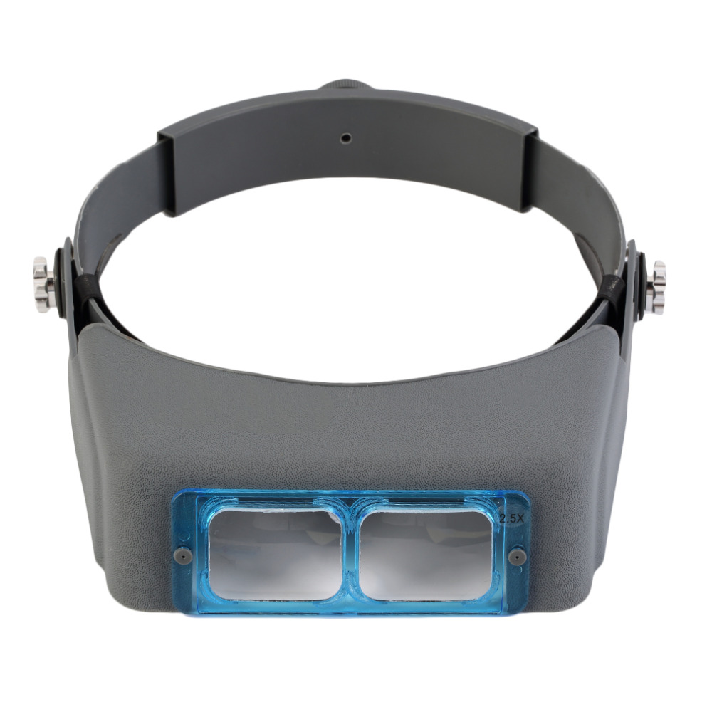 Double Lens Head-mounted Headband Reading Magnifier Head Wearing Magnifying Glass Loupe 4 Magnifications Glasses Brand New  headband headset led head light magnifier magnifying glass loupe 5 lens set