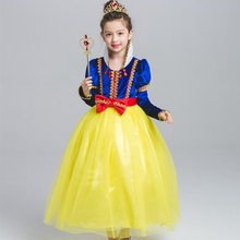 Girls Snow White Princess Dress Halloween Party Kids Fairy Tale Cosplay Costume Birthday Clothes for Photo Shoot