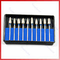 10 Pcs/set Tungsten Steel Dental Burs Lab Burrs Tooth Drill
