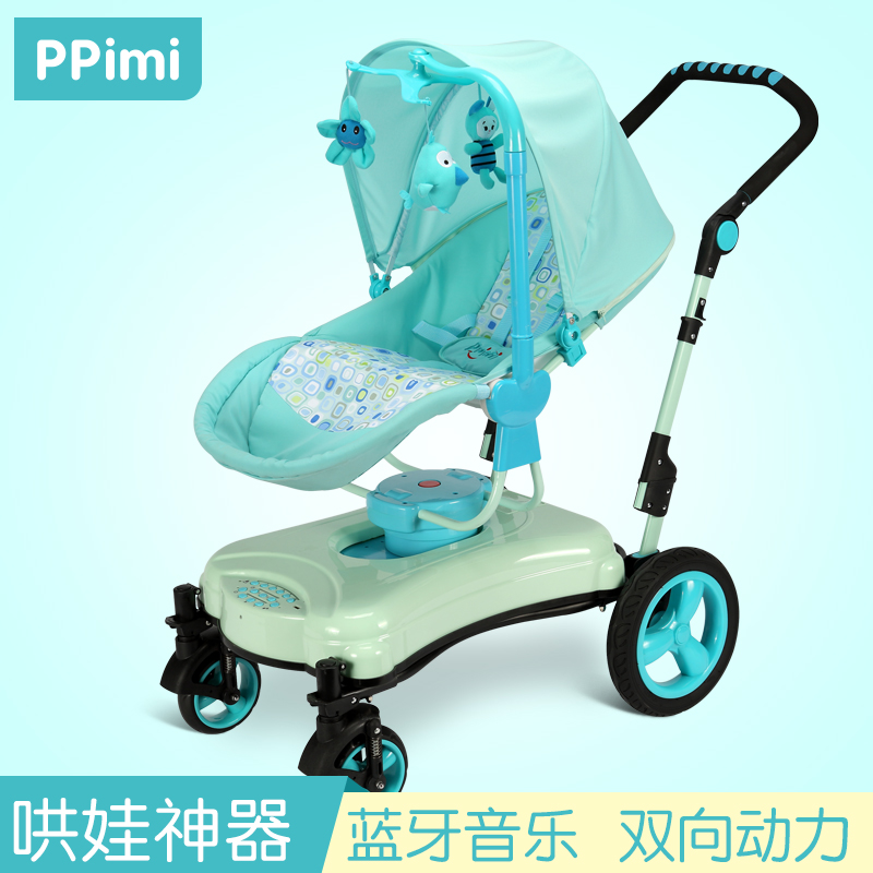 Baby trolley  Can Sit can lying chair mode strolleFolding High Landscape Umbrella carts Bidirectional Electric Cradle high profile baby trolley ultra light can be lying down two way four wheel shock baby trolley