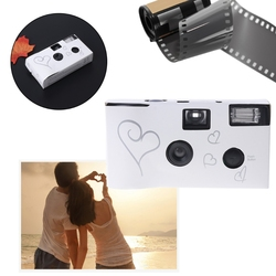 New Film Camera 36 Photos Power Flash HD Single Use One Time Disposable Film Camera Party Gift hot