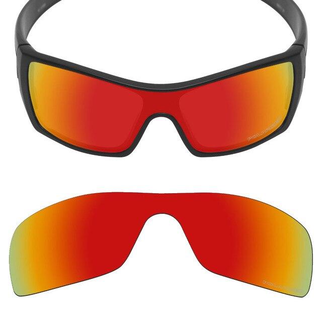 c7b5c5e0a Mryok + POLARIZADA Lentes de Reposição para óculos Oakley óculos de Sol  Batwolf Fogo Resistir À
