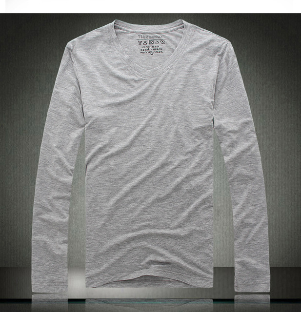 [ANYTIME] New 2014 Brand Cotton Men's Clothing Casual  Fashion Man Thin Long Sleeve t shirt Tops & Tees O-Neck T-shirts