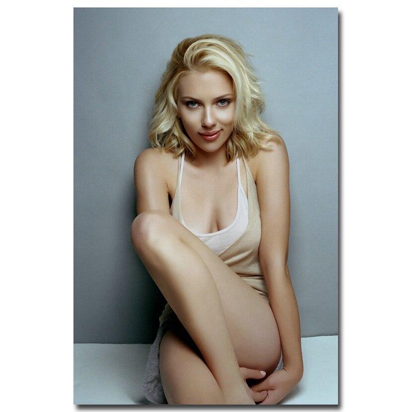 Scarlett Johansson Star Art Deco Poster Wall Fabric Canvas 3302
