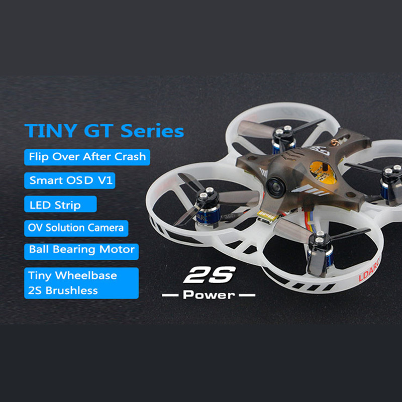 KINGKONG LDARC TINY GT7 GT8 Indoor FPV Drone Brushless Motor 2S Power OSD 380mah Lipo with DSM2/RX2A Pro/AC900/AC800 Receiver kingkong tiny 7 micro fpv racing quacopter dsm2 receiver yellow