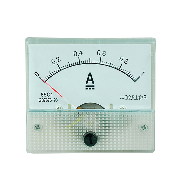 85C1 DC 1A Ampere Meter Current Analog Panel Meter Ammeter Gauge 0 ...