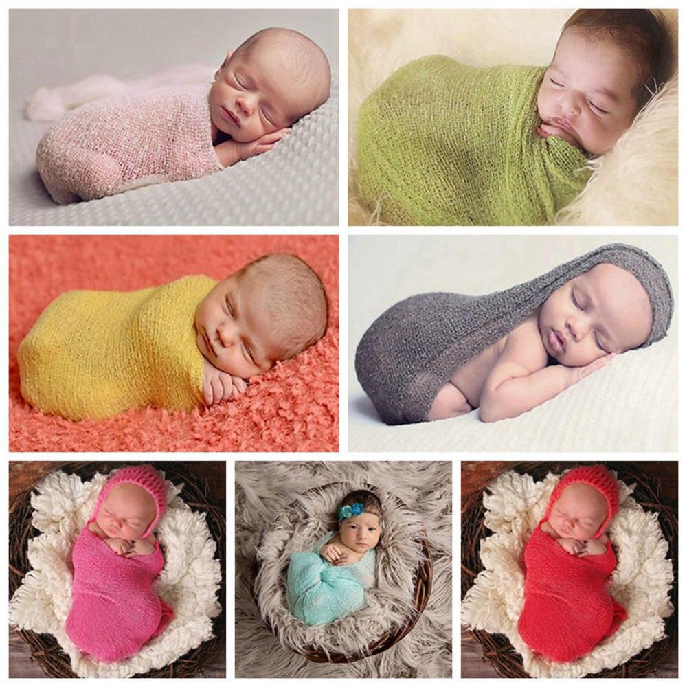 Baby Fotografie Prop Pasgeboren Verpakt Baby Foto Accessoires Baby - Babykleding - Foto 2