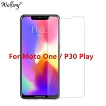 "2PCS vidro temperado para Motorola Moto Um protetor de tela Para Moto Um 9H premium de vidro para Motorola One / P30 Reproduzir XT1941 4 5.9"""