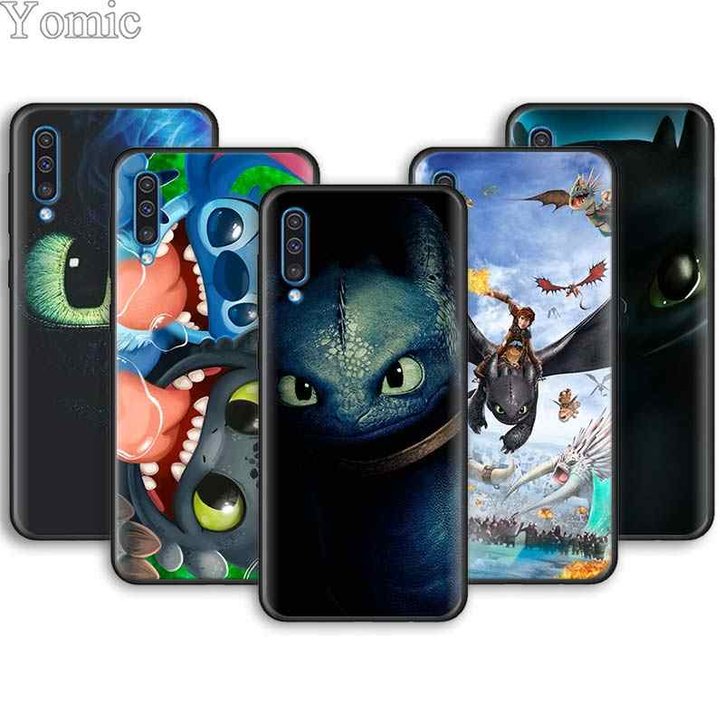 Toothless Train Your Dragon Lembut Ponsel Case untuk Samsung Galaxy A10 A20 A30 A40 A50 A70 A6 A7 A8 PLUS a9 A51 A71 A01 A90 5G
