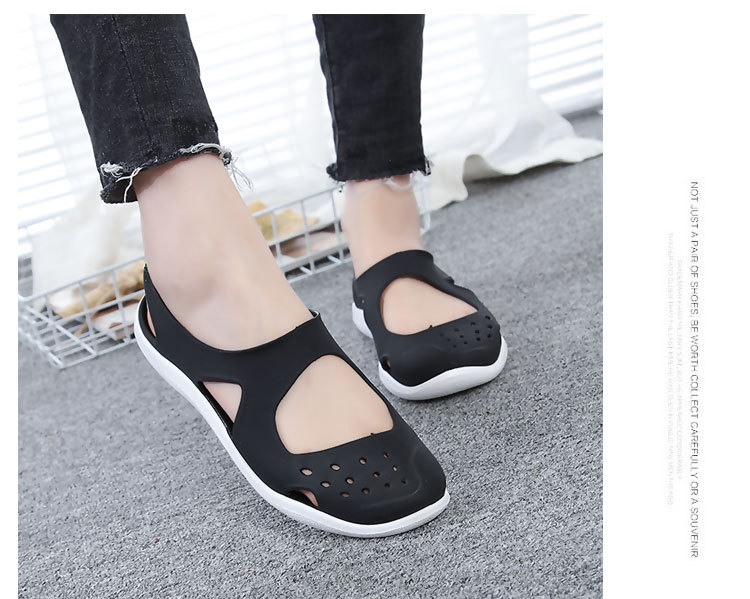 HTB1FqFZbyzxK1Rjy1zkq6yHrVXaV - Women's Sandals Fashion Lady Girl Sandals Summer Women Casual Jelly Shoes Sandals Hollow Out Mesh Flats Beach Sandals