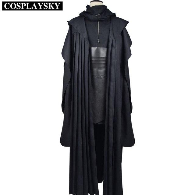 low priced 22677 762fd US $99.99 |Star wars darth maul robe cosplay lino tunica nera mantello  dell'uomo set halloween uniforme in Star wars darth maul robe cosplay lino  ...