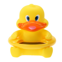 2 in 1 Lovely Floating Yellow Duck Water Thermometer LCD Screen Water Sensor Thermometers