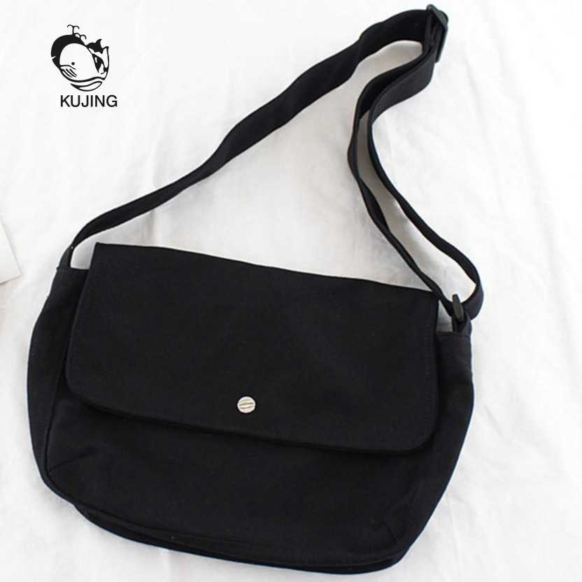 790f6c9511 KUJING Fashion Handbag Simple Art Canvas Women Bag Cheap Women s Shoulder  Messenger Bag Hot High Quality