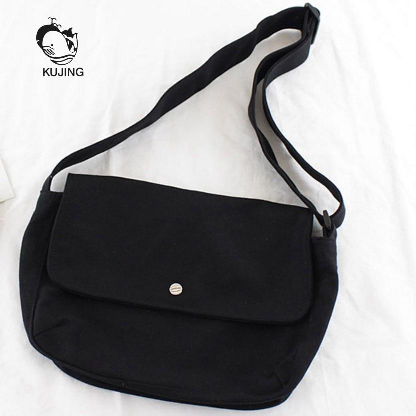 KUJING Fashion Handbag Simple Art Canvas Women Bag Cheap Women's Shoulder Messenger Bag Hot High Quality Canvas Casual Women Bag