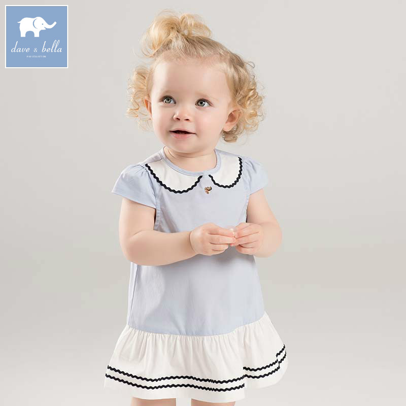 004bcea88d5 Dave bella lovely little baby girls dresses infant toddler solid clothes  children birthday party high quality costumes DB7104-in Dresses from Mother    Kids ...