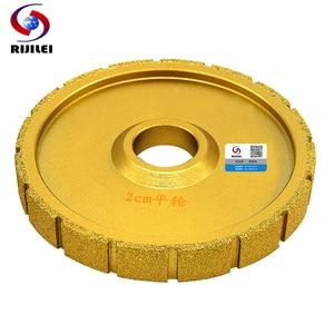 RIJILEI 140mm*30*20 Brazing Diamonds Marble Sanding Disc Machine use Right angle Grinding wheel granite edging discs MX43