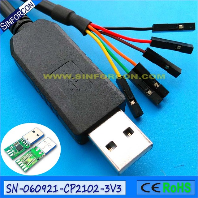 silabs cp2102 usb to ttl Serial Cable Debug / Console Cable for ...