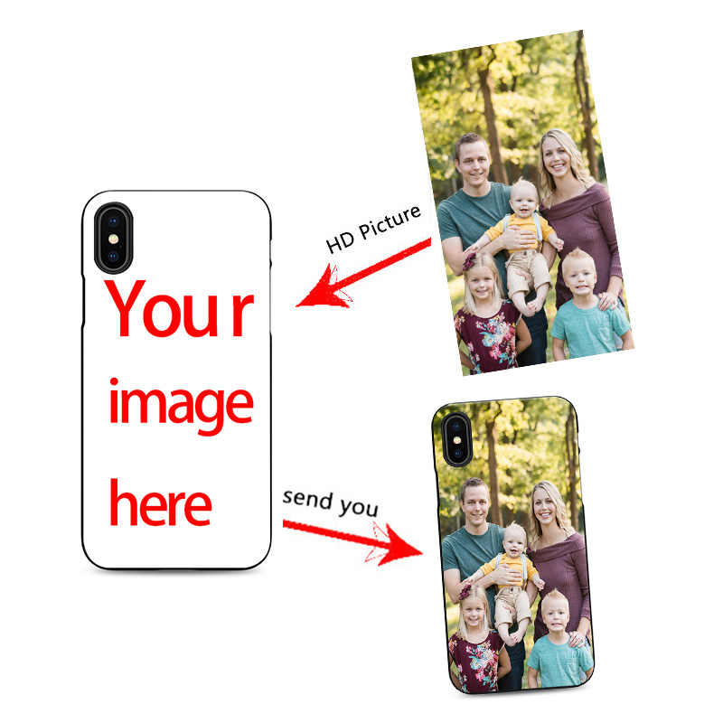 info for 902e9 64d28 diy custom cell phone case design your own for iPhone X XR 6 7 8 plus 5 5s  6s se create phone case with photos best black cover