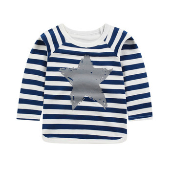 Baby Girls Tops Children T Shirts Long Sleeve 2018 Autumn Kids Tee Shirt Spring Striped Brand T-shirt Children Blusas Boys T Shirts