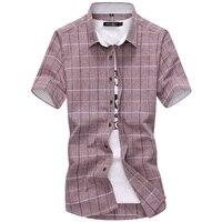 New vogue Men Shirt Plaid Nice VogueCasual Quality Dress Shirt Short Sleeve Chemise Homme Slim Fit Brand Clothing Shirts Men