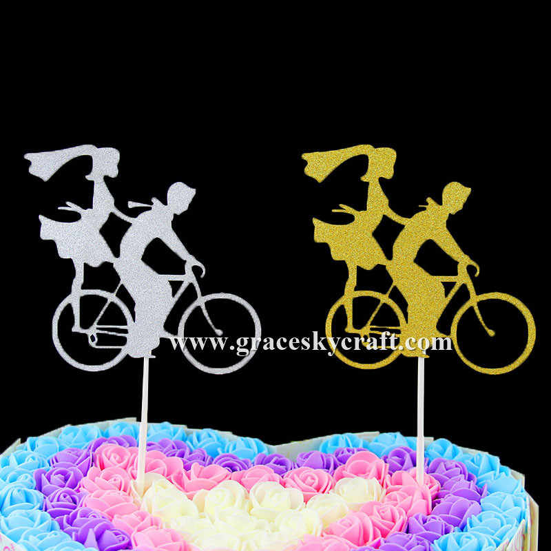 Swell 12Pcs Free Shipping Glitter Wedding Birthday Cakes Toppers Boy And Funny Birthday Cards Online Aboleapandamsfinfo