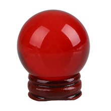 40mm Quartz Red Crystal Ball