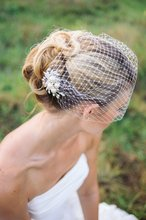Bridal Birdcage veil, Wedding bridal hair comb, pearls comb Veil, Pearl veil