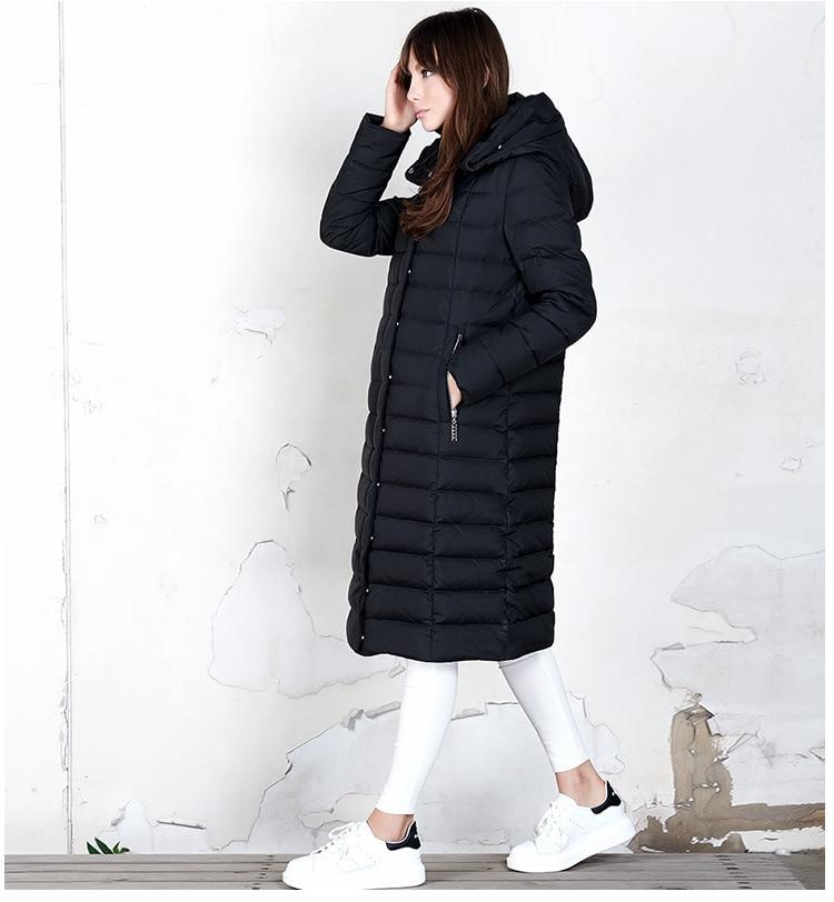 2017 Canard Veste Bas Roman Épaississement La Pour Manteau beige Mode Duvet Femmes Blanc Vers Nouveau Long Paragraphe Version Black De Le rTfPra4