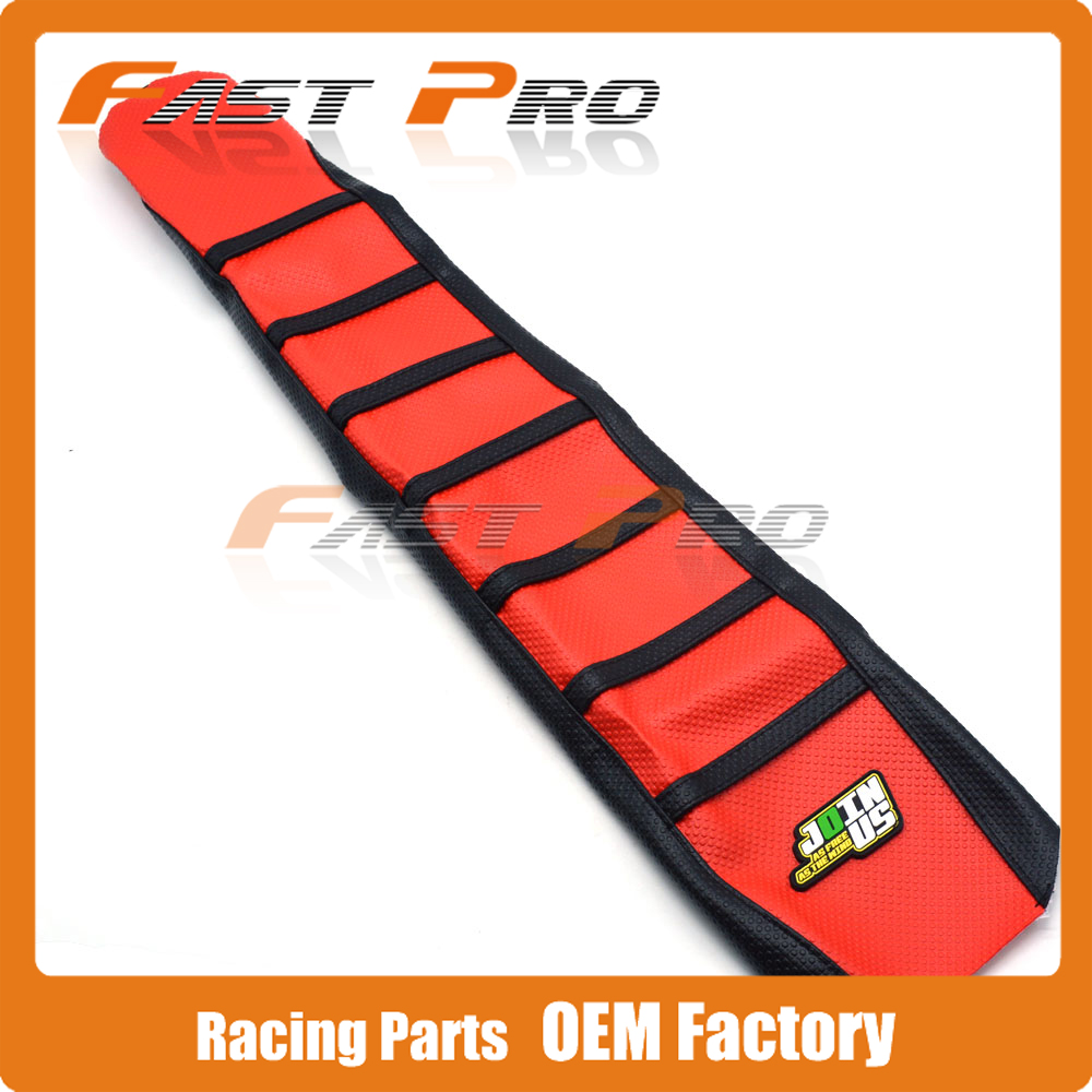 Pro Rib Ribbed Gripper Soft Rubber Seat Cover For CR125R CR250R 2000-2008 01 02 03 04 05 06 07 CRF450R 02-04