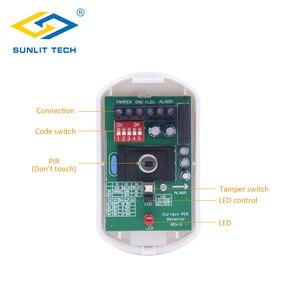 Image 3 - Проводной занавес PIR детектор занавес потолок окно пассивный инфракрасный детектор движения для дома охранная сигнализация система датчик движения