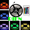 RGB led tape 5050 RGB LED Strip light 5m 300 leds Waterproof luz tiras ruban for garland 12V +Remote Controller Free Shipping