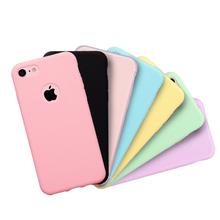 Etui na telefon iPhone 7 6 6s 8 X Plus 5 5S SE XR XS Max cukierki kolor silikonowe pary miękkie proste jednokolorowe modne etui tanie tanio SIXEVE Zwykły Matowy Przezroczysty Aneks Skrzynki Origin accessory Bumper Women men Carcasa Casing Coque capinha Etui de