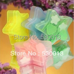Portable Soap mixed batch star decal tablet Mini flower Soaps paper washing cleaning Hands Eliminating Odor Kitchen Bar outdoor